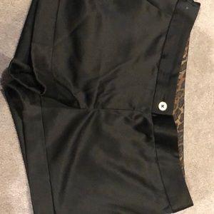 Express black silk shorts